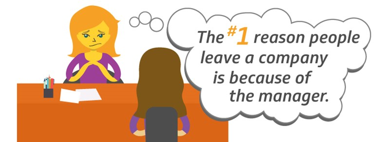 Employees usually leave a company because..